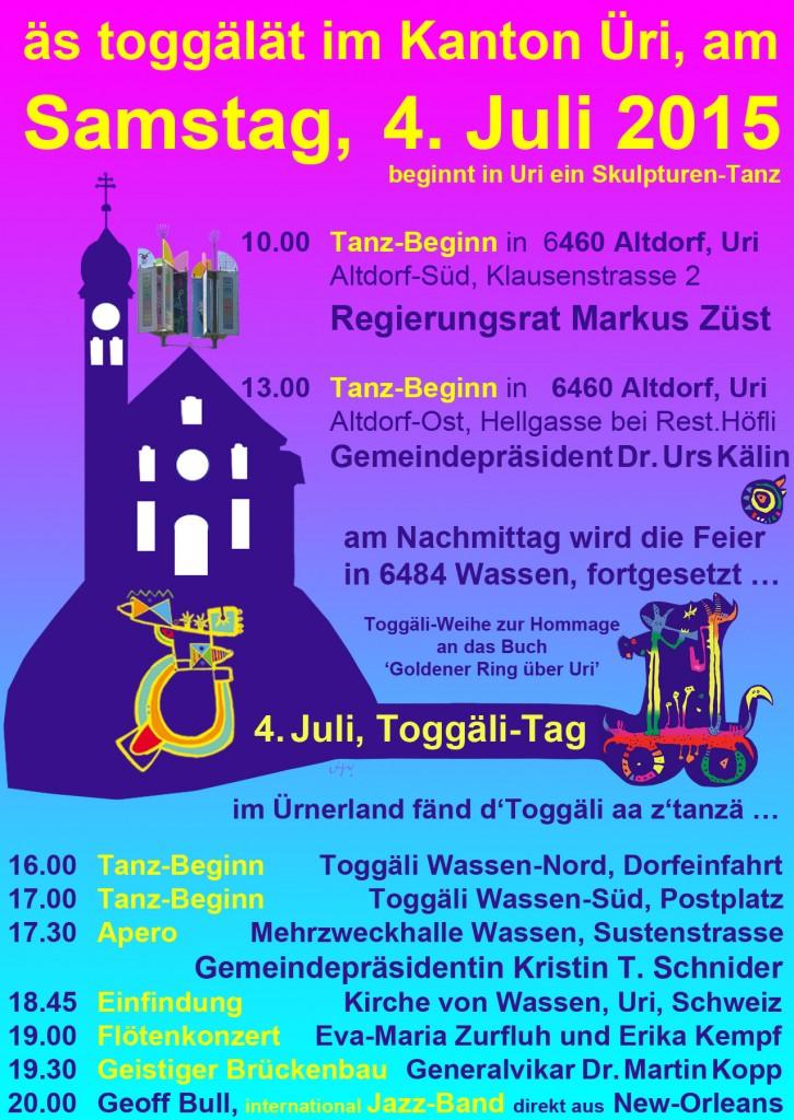 Plakat Wassen Toggäli-Tag im Ürnerland 963KB